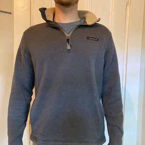 Worn Timberland quarter zip sweatshirt size medium